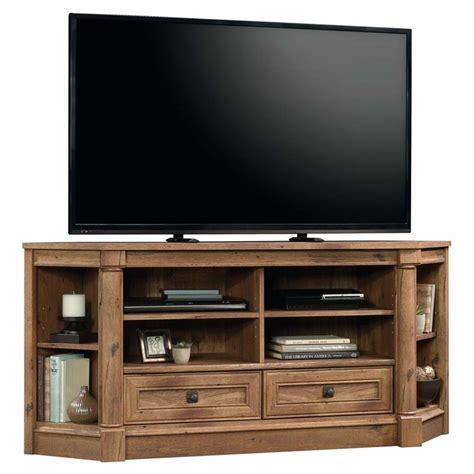sauder corner tv cabinet sauder palladia corner tv stand in vintage oak 420714