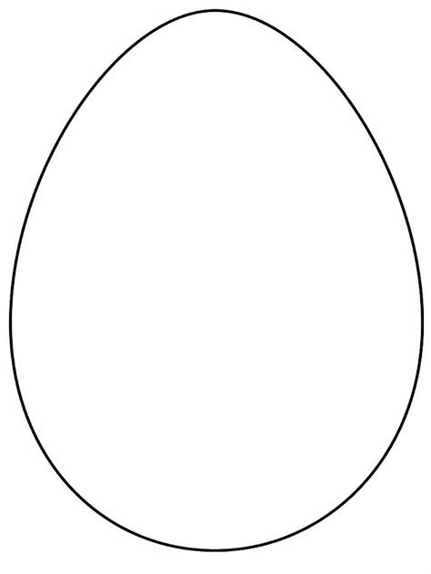egg template printable simple shapes egg coloring pages