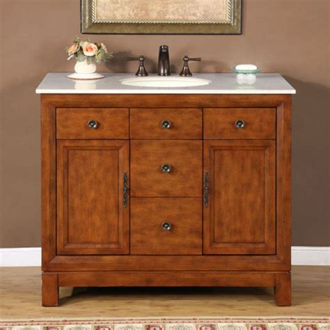 42 Bathroom Vanity Cabinet 42 Inch Traditional Single Bathroom Vanity With Choice Of Counter Top And 2 Doors 2 Drawers