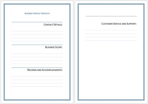 business profile word template business profile templates easily create professional