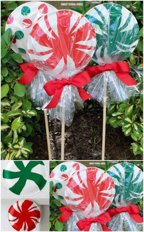 outdoor 8 diameter christmas lollipops 20 impossibly creative diy outdoor decorations diy crafts