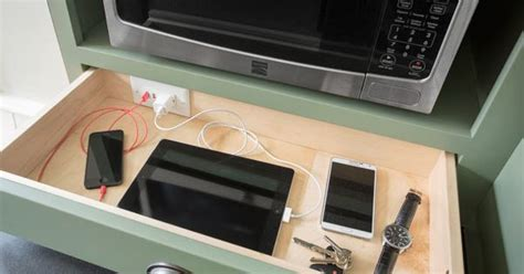 countertop charging station create a built in charging station inside a drawer now