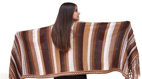 Handmade Shawl - s superfine alpaca wool intarsia handmade shawl wrap