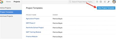 new project template templates help zoho projects