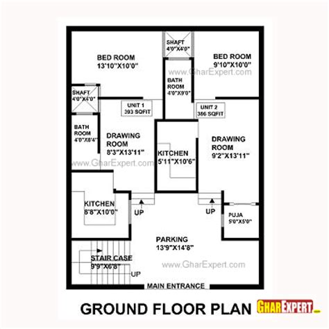 house map design 30 x 40 house plan for 33 feet by 40 feet plot plot size 147