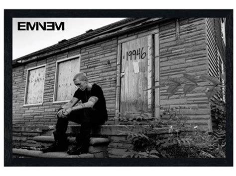 eminem framed lyrics black wooden framed marshall mathers lp 2 eminem poster