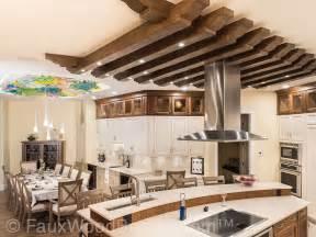 wood beam kitchen ceilings