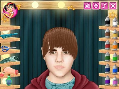 cutting hair games unblocked justin bieber real haircuts girl games justin bieber real