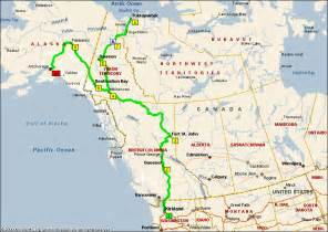 map of alaska canada highway