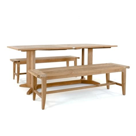 bench pyramid pyramid teak dining set for 6 people westminster teak