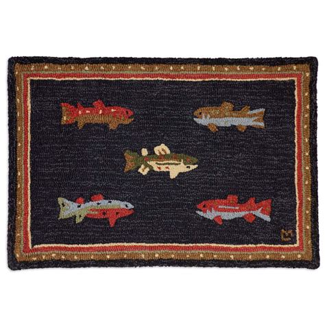 wool accent rugs river fish hooked wool petite accent rug