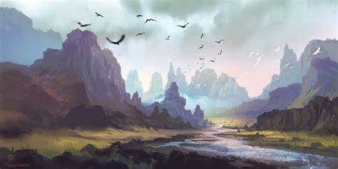 Mountain Landscape By Ferdinandladera On Deviantart Mountain Landscape Paintings