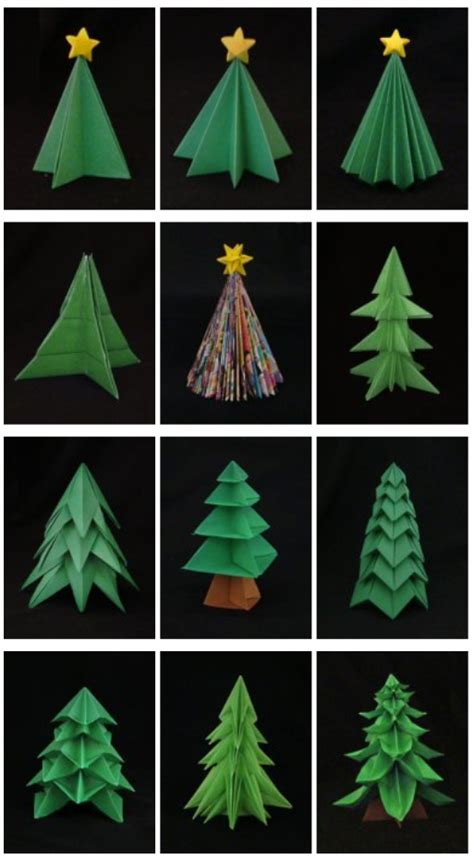Origami Tree Decorations - let s make diy origami decorations together