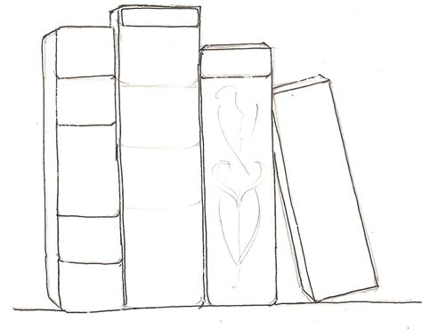 how to draw a picture of a book how to draw books in shelf which can be read