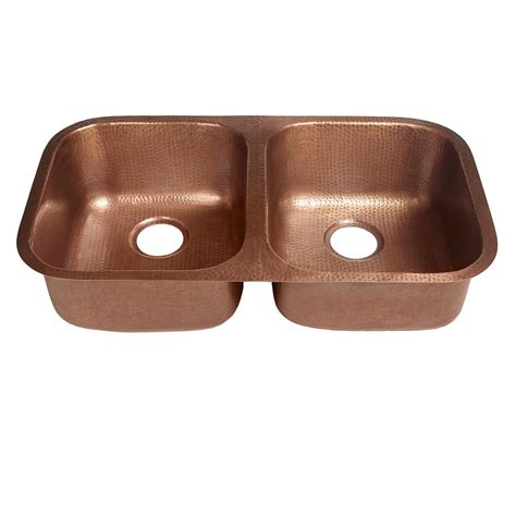 undermount copper kitchen sink sinkology undermount handcrafted solid copper 32 in