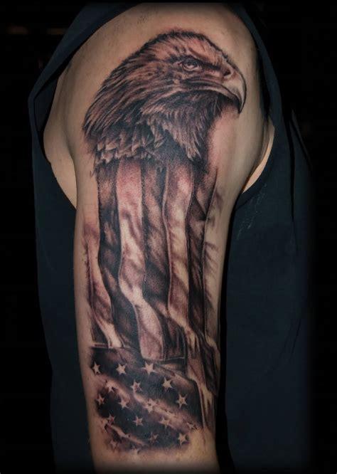 eagle and flag tattoo 20 us flag designs