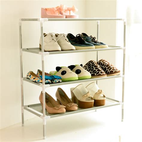 practical shoe storage simple shoe rack multilayer nonwoven fabric