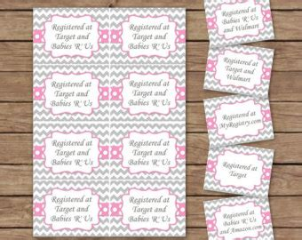 printable bridal shower registry inserts baby shower invitation and registry card bunny blooms