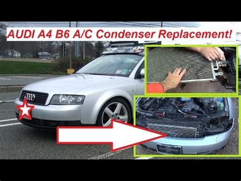 automobile air conditioning service 2008 audi a4 spare parts catalogs audi a4 b6 a c condenser removal and replacement air conditioner condenser youtube