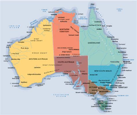 map of australia with territories que genial las divisiones de imagen ahfalla en