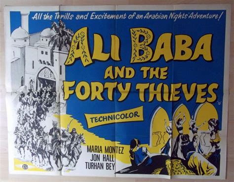 alibaba and the forty thieves ali baba and the forty thieves original uk quad maria