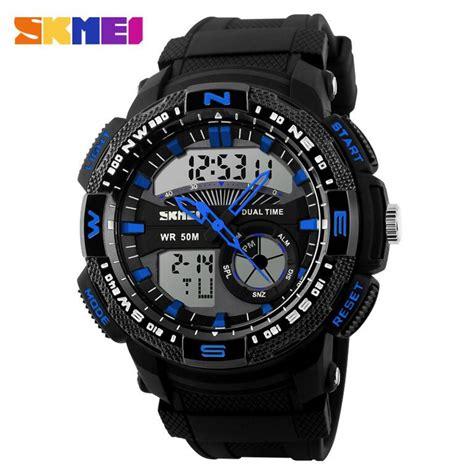Jam Tangan Casio Skmei Pria jual jam tangan pria skmei dual time casio sport led