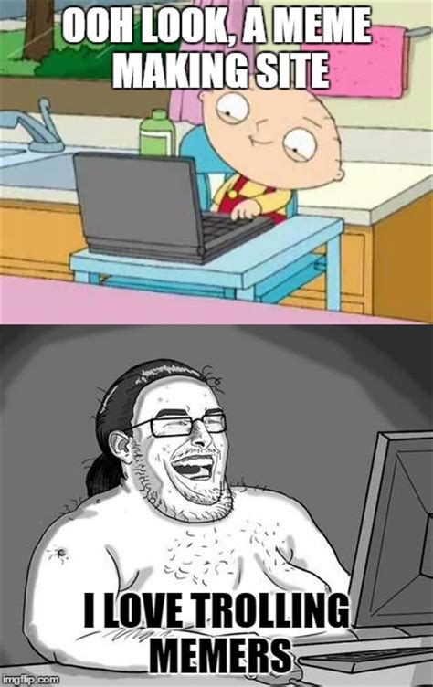 Meme Making Sites - image tagged in troll stewie imgflip