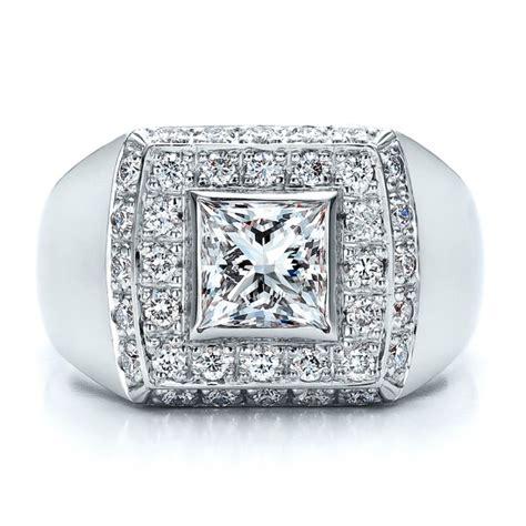 custom princess cut engagement ring 100010