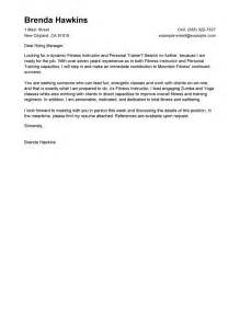 Cover Letter For Teacher Trainer leading professional fitness and personal trainer cover letter