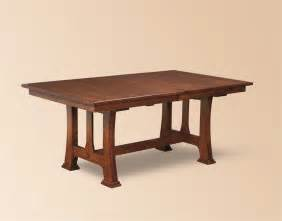 Trestle Dining Room Table Amish Custer Mission Trestle Dining Table Trestle Tables Amish Dining Room Tables 45230