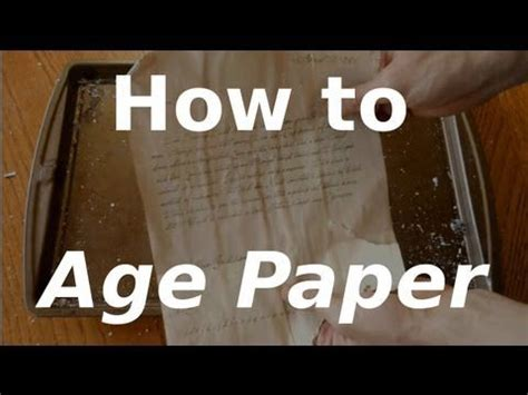 How To Make Paper Look With Coffee - 25 best ideas about aging paper on how to