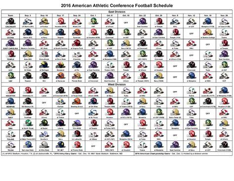 Printable Football Schedule