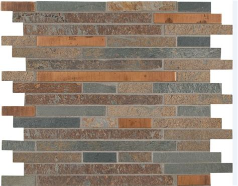 rustic backsplash tile rustic creek stone mosaic backsplash