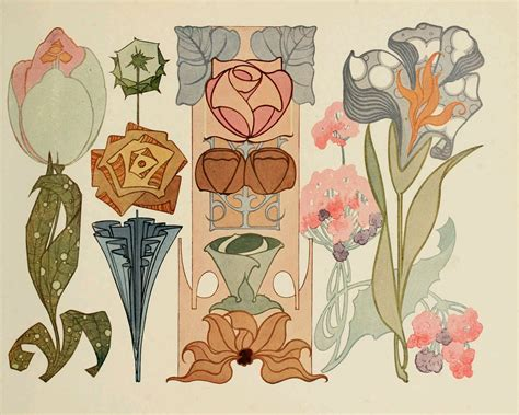 design art nouveau beautiful art nouveau designs