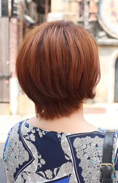pictures of short haircuts from back side back view of short auburn bob hairstyle hairstyles weekly