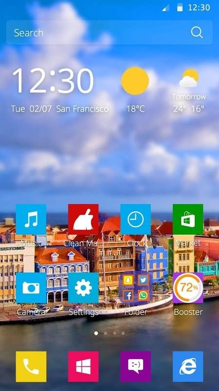 colourful themes for android colorful town theme free android theme download appraw