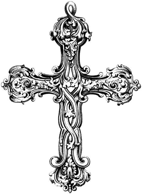 cross tattoo flash art vgosn vintage cross clip art image graphics printables