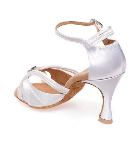 white satin shoes quality white satin bachata heels salsa open toe