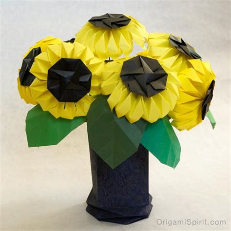 Origami Sunflower - origami sunflower bring and happiness to your