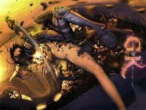 anime battle battle angel alita full hd wallpaper and background image