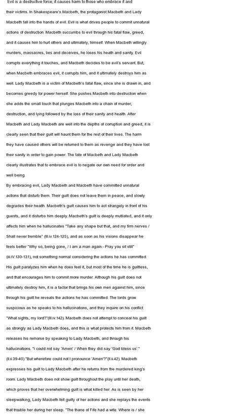 Macbeth Essay Citations by Macbeth Blood Imagery At Essaypedia