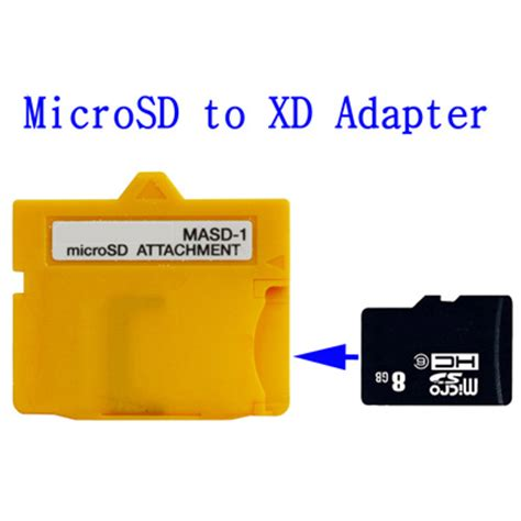 winfos microsd tf card card to xd card adapter yellow
