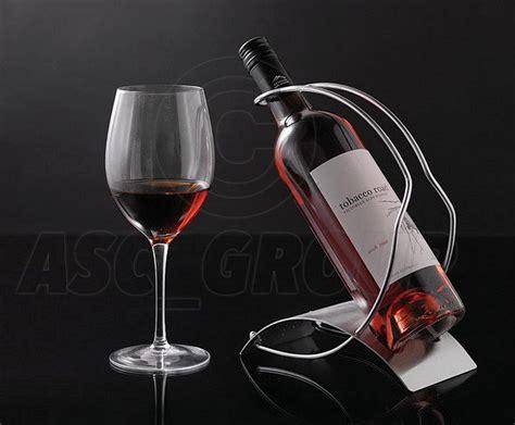 wine bottle holder rack brushed steel plate wire holder