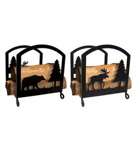moose fireplace log rack wood racks storage