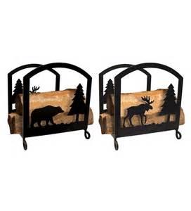 fireplace log racks moose fireplace log rack wood racks storage