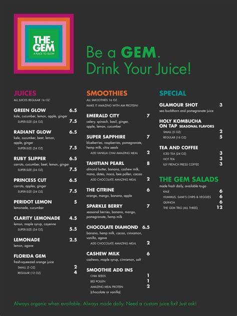 Detox Bar Menu by 25 Best Ideas About Juice Bars On Juice Bar
