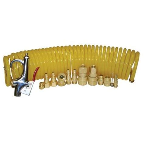 buffalo tools air compressor 14 pc gun hose plugs parts tool accessory kit ebay
