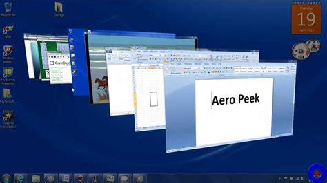 Peek Search Windows 7 Aero Peek