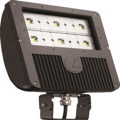 Lithonia Led Outdoor Lighting Lithonia Lighting 129 Watt Bronze Outdoor Integrated Led Flood Light With 6 Engine Yoke