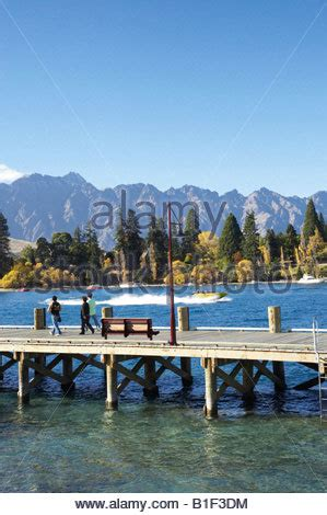 pier queenstown boat pier at lake wakatipu queenstown south island new